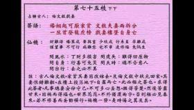 黄大仙灵签 第75签:下下 伦文叙戏妻